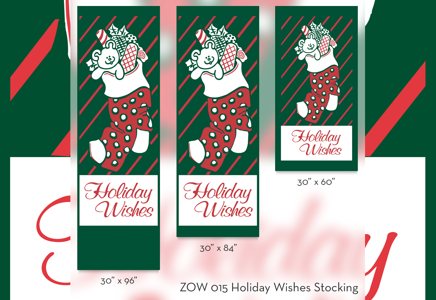ZOW 015 Holiday Wishes Stocking