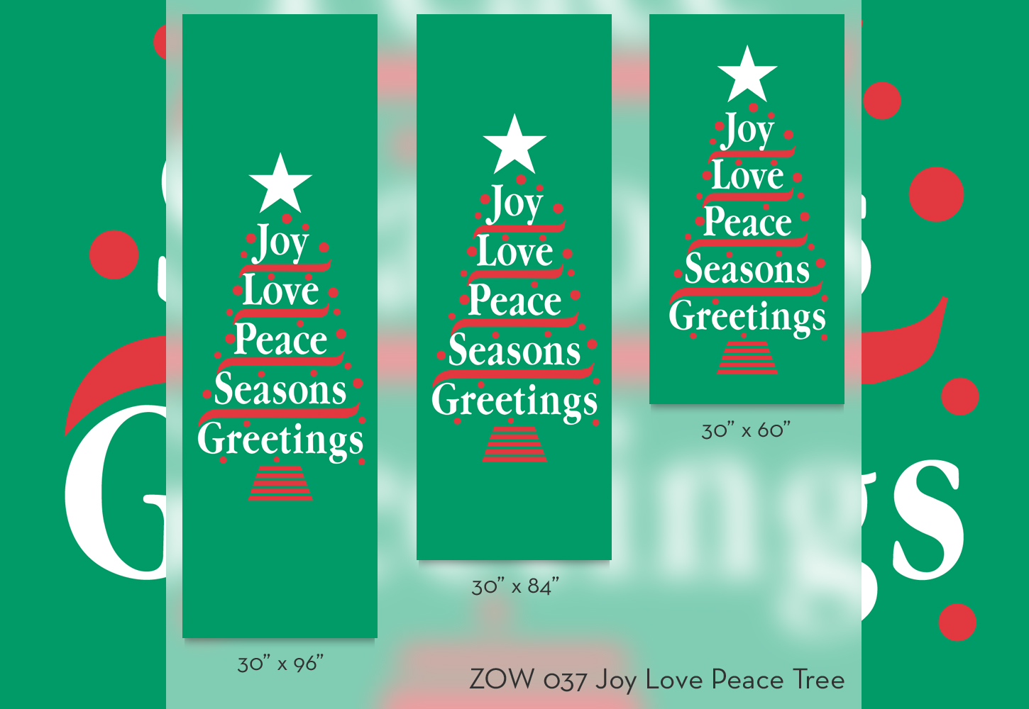ZOW 037 Joy Love Peace Tree