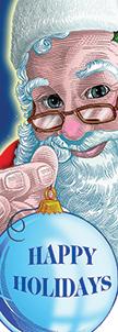 ZOW 1000 Happy Holidays Santa