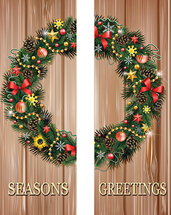 ZOW 1006 Wreath On Rustic Boards