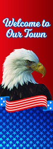 ZOW 1024 Eagle Patriotic Scroll