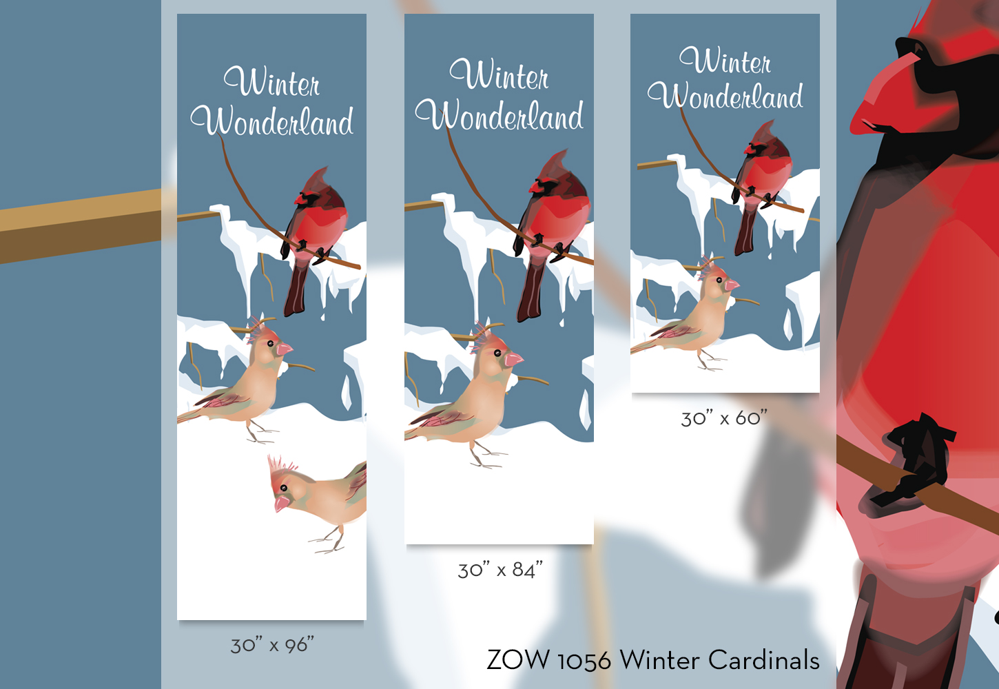 ZOW 1056 Winter Cardinals