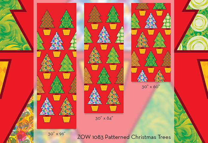 ZOW 1083 Patterned Christmas Trees