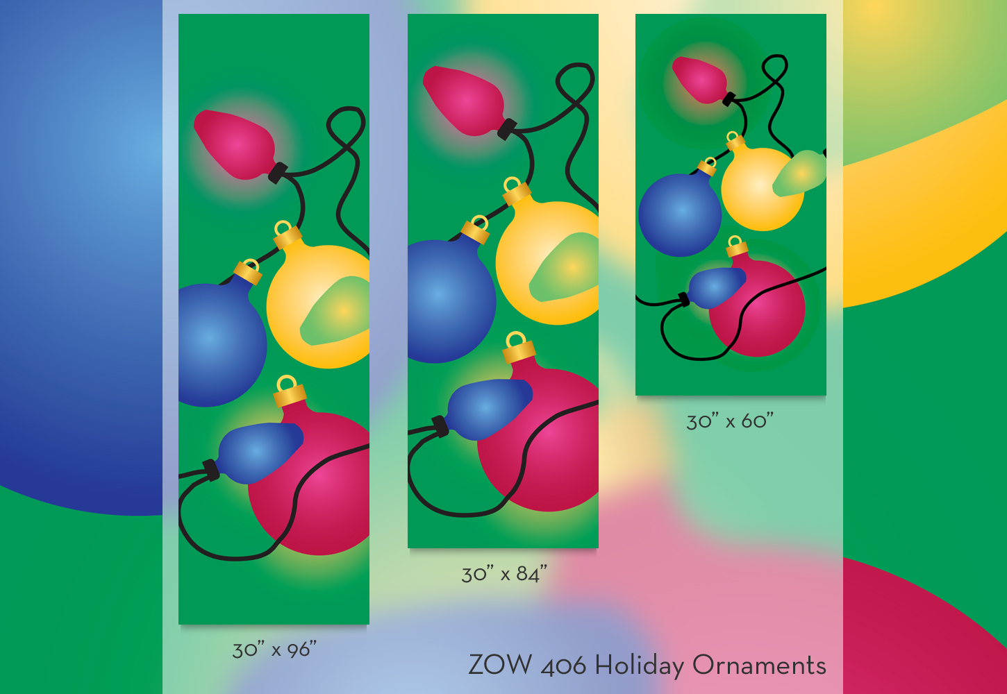 ZOW 406 Holiday Ornaments