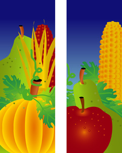 ZOW 501FW Fall Fruit Corn & Pumpkin