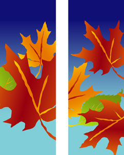 ZOW 502FW Fall Leaves on Blue Background