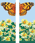 ZOW 502SS Butterfly & Daisies