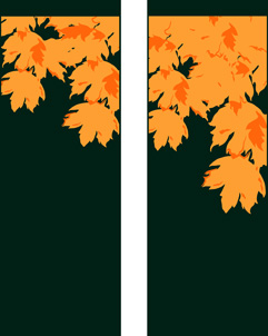 ZOW 506 Fall Leaves on Green Fabric