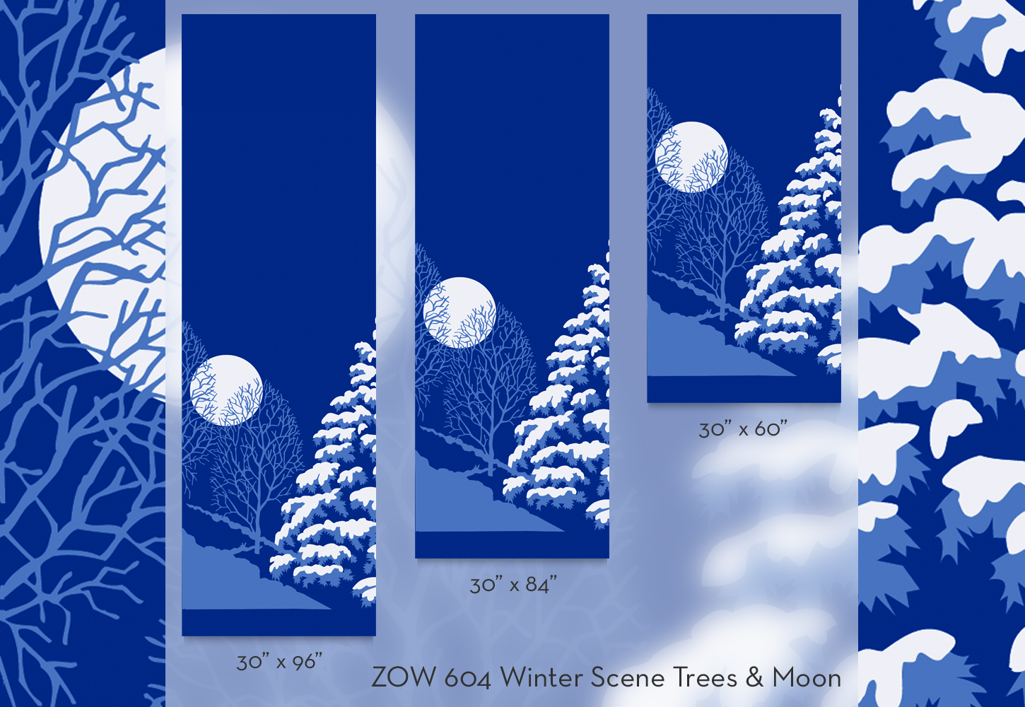 ZOW 604 Winter Scene Trees & Moon