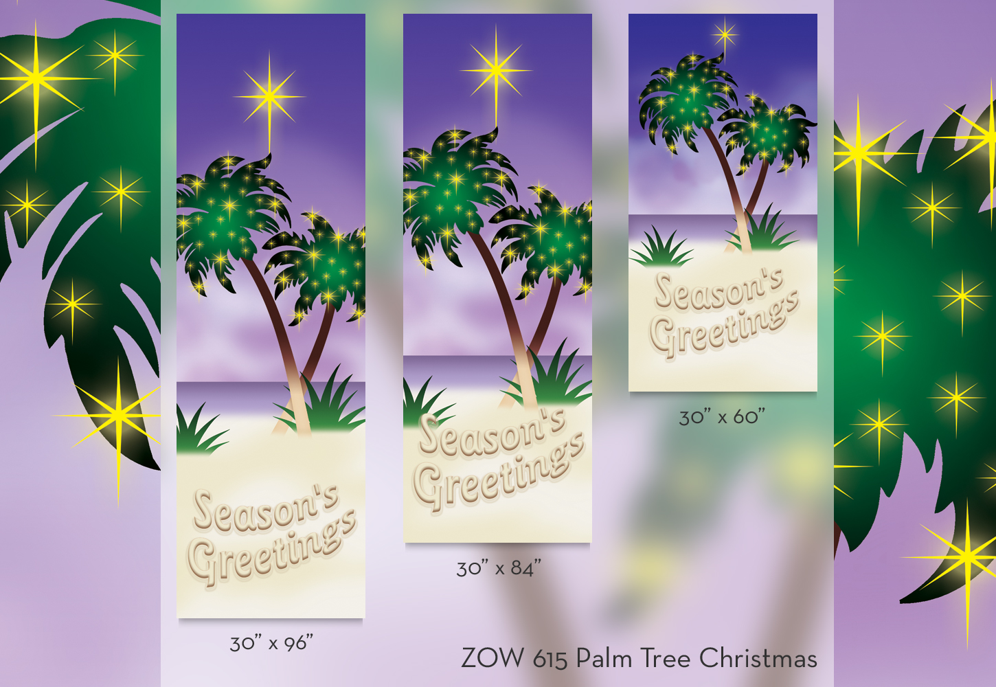 ZOW 615 Palm Tree Christmas