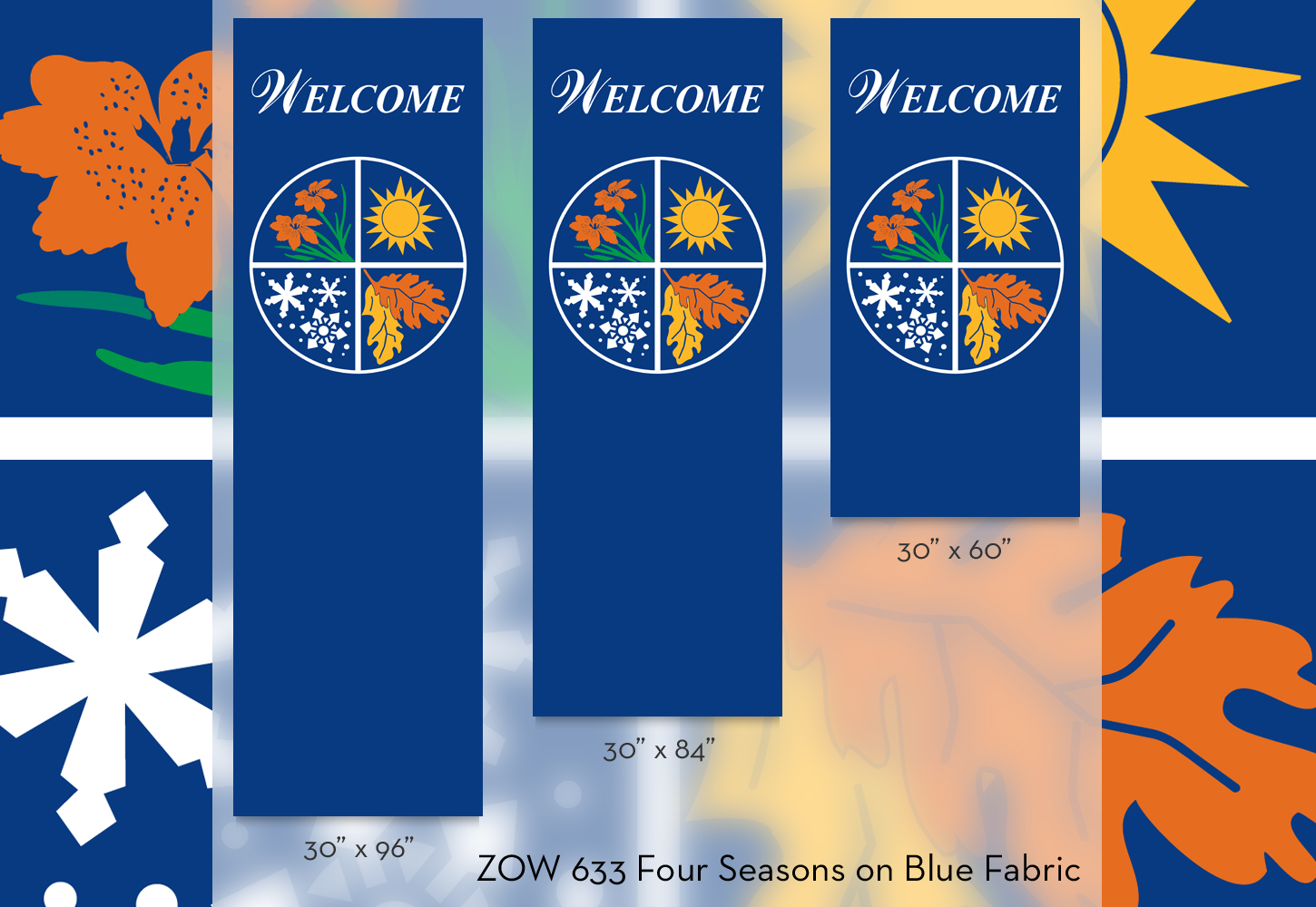 ZOW 633 Four Seasons on Blue Fabric
