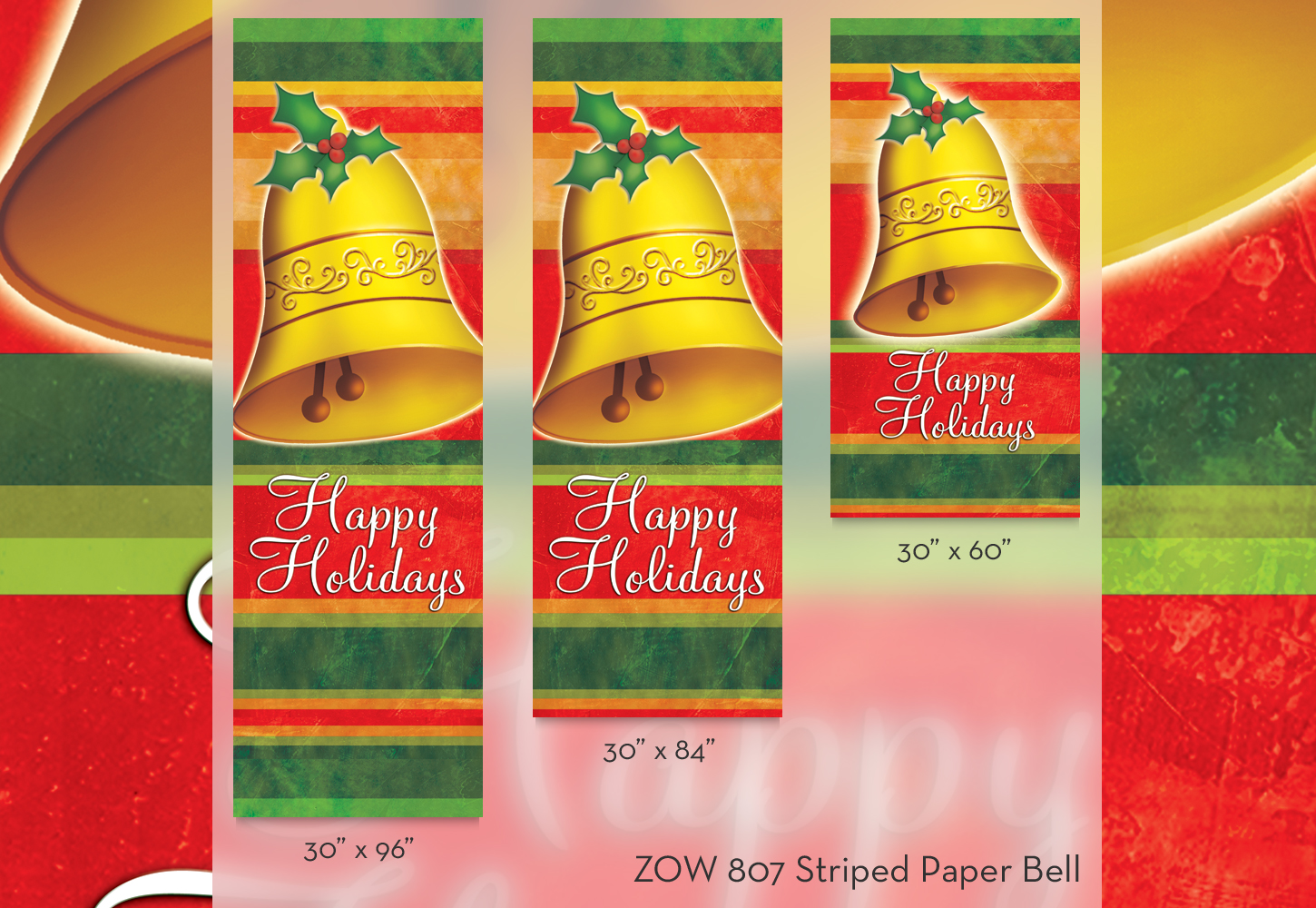 ZOW 807 Striped Paper Bell