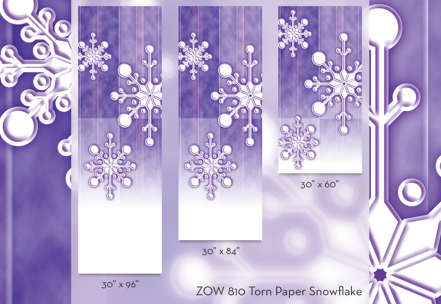 ZOW 810 Torn Paper Snowflake