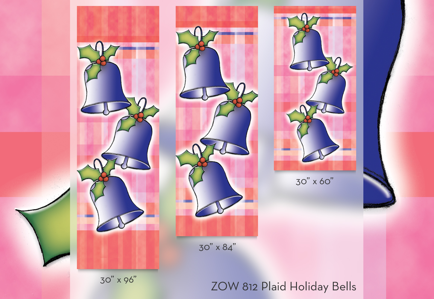 ZOW 812 Plaid Holiday Bells