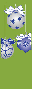 ZOW 911G Blue & Silver Ornaments