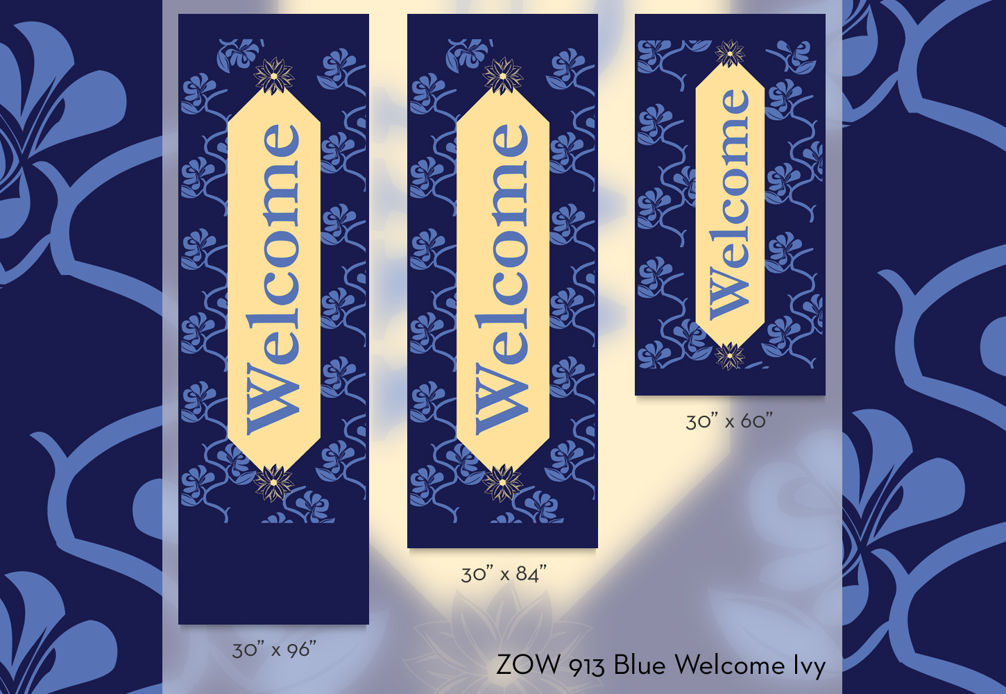 ZOW 913B Blue Welcome Ivy