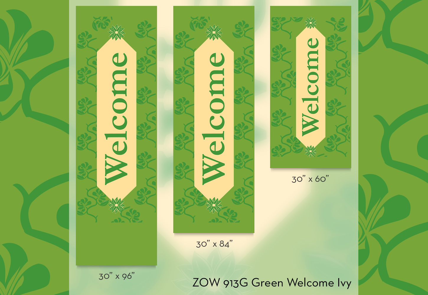 ZOW 913G Green Welcome Ivy