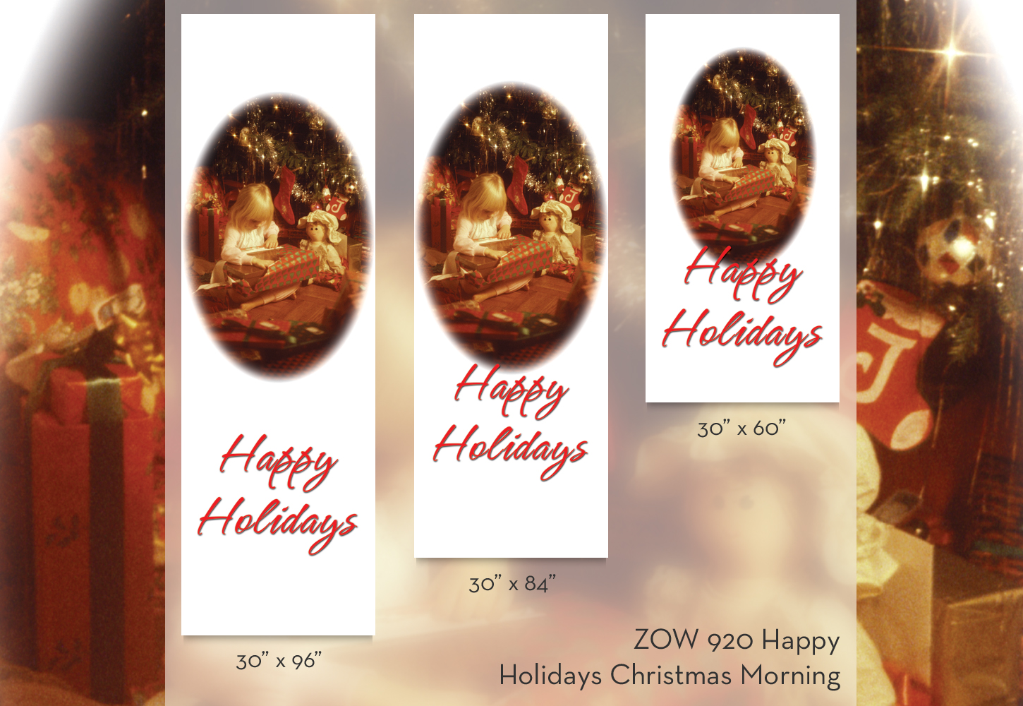 ZOW 920 Happy Holidays Christmas Morning