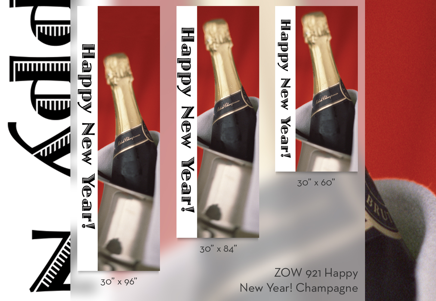 ZOW 921 Happy New Year Champagne