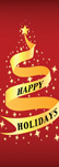 zow 938 Happy Holidays Ribbon Tree