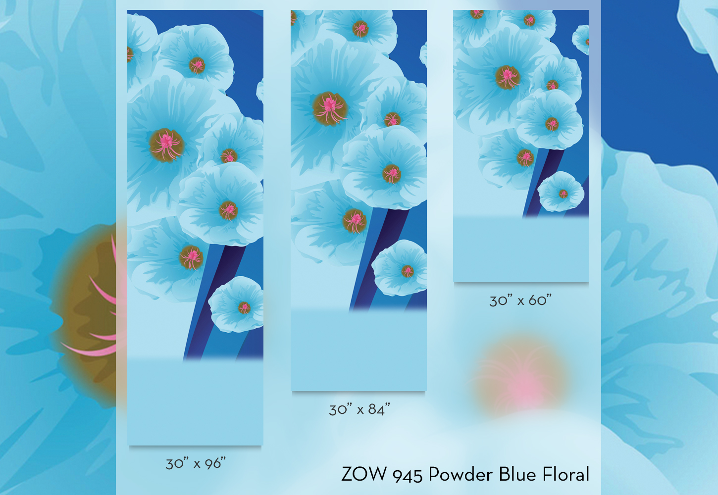 ZOW 945 Powder Blue Floral