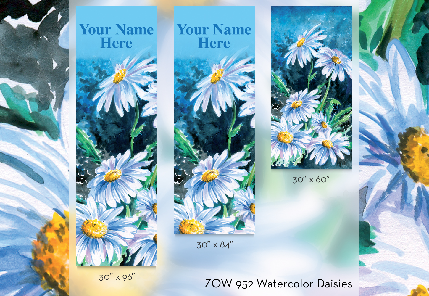 ZOW 952 Watercolor Daisies