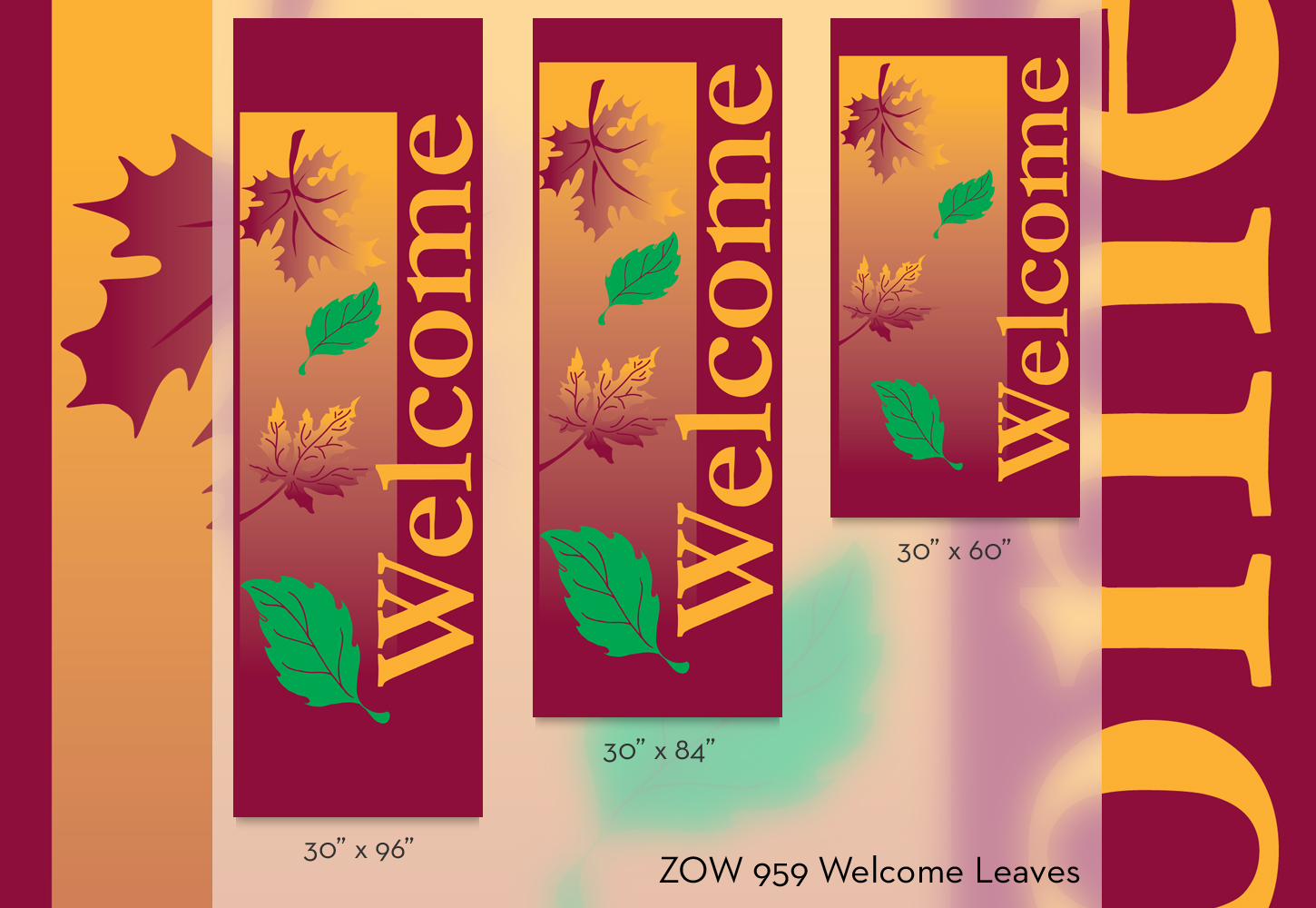 ZOW 959 Welcome Leaves