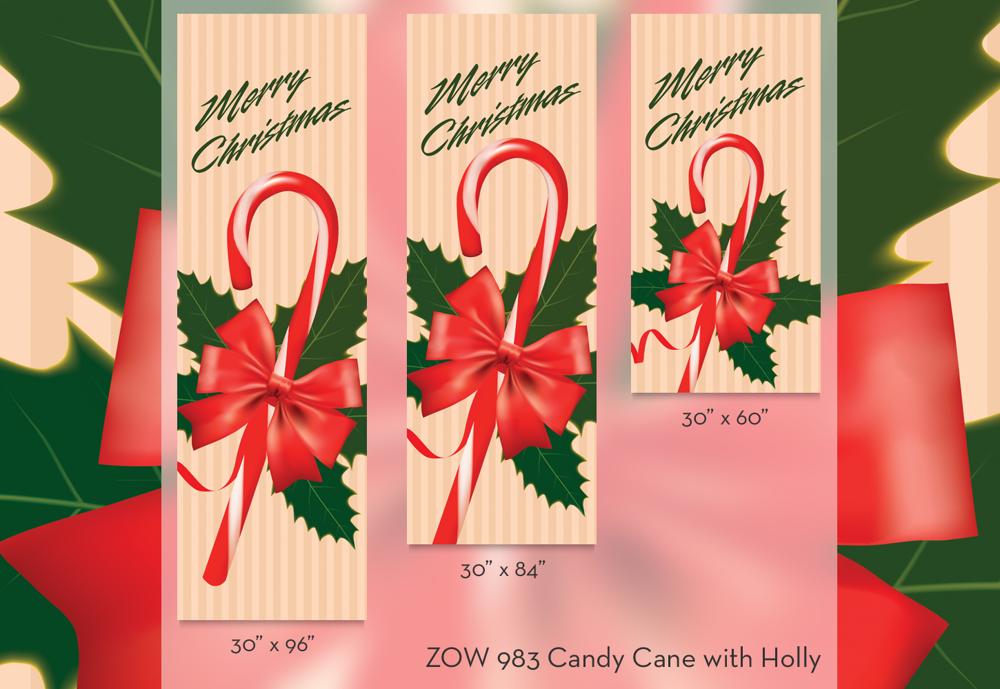ZOW 983 Candy Cane with Holly