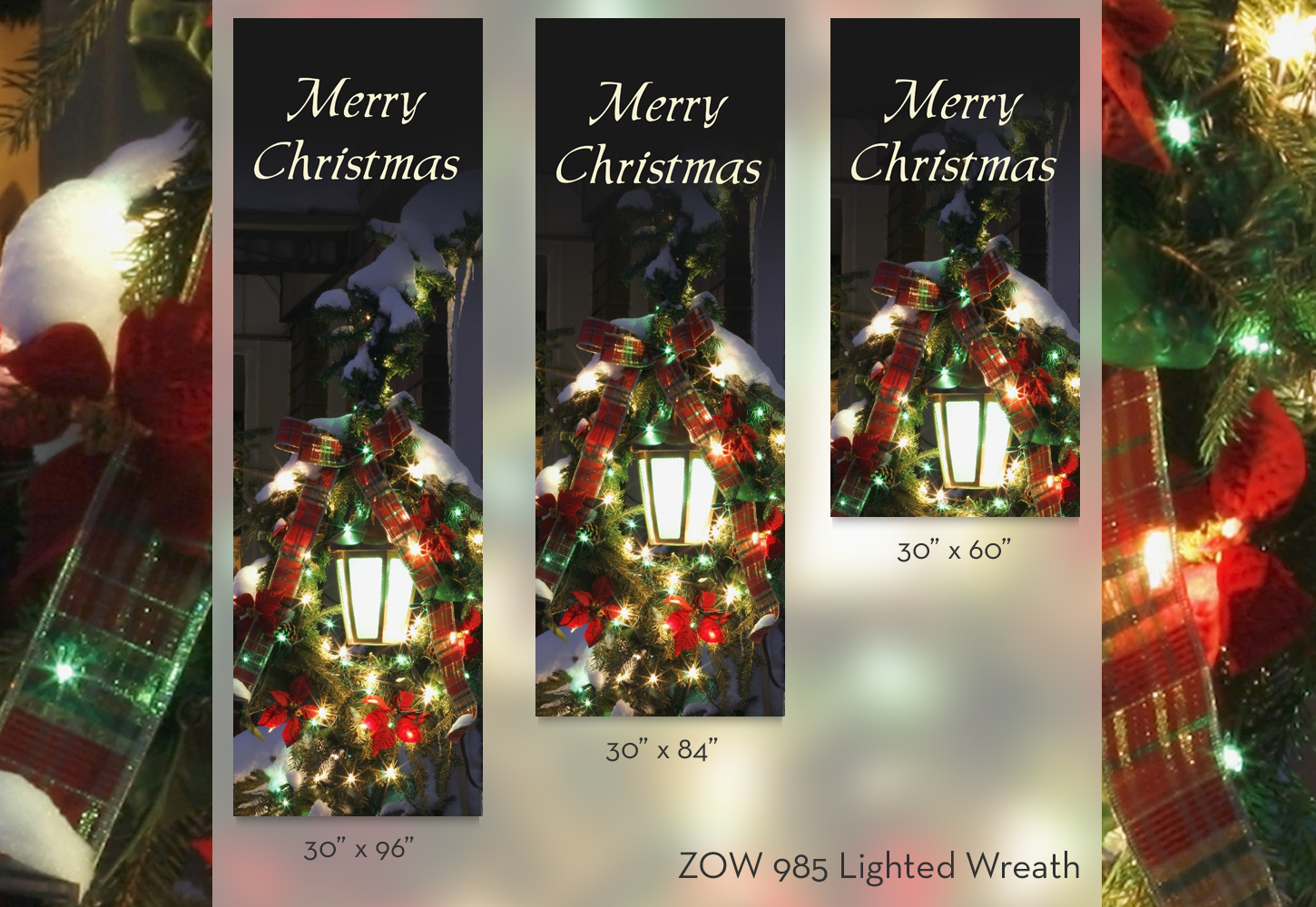 ZOW 985 Lighted Wreath