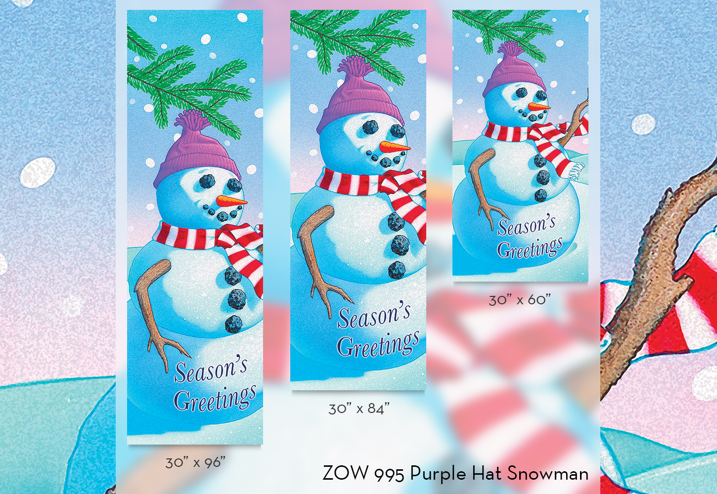 ZOW 995 Purple Hat Snowman